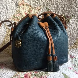 VTG Dooney & Bourke AWL Cadet Blue Drawstring